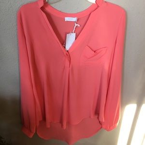 Women's small coral spring shirt NWT